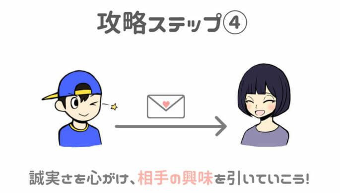 出会い系アプリ攻略ステップ④-丁寧でわかりやすいメッセージを送ること!